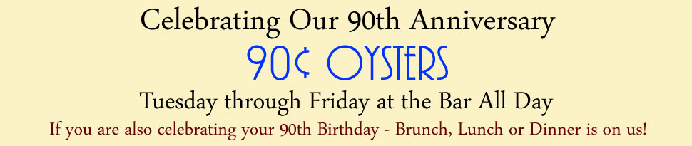 .90 cent oysters special