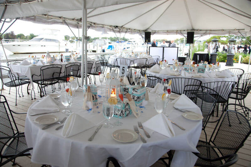 Waterside Dining Under the Tent
