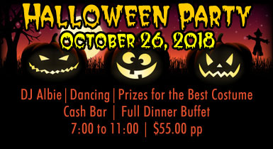 Halloween Party - October 26th